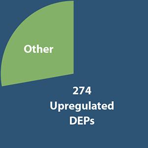 274 Upregulated DEP's